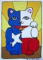 I'm originally from the Great State of Texas, so I decided to pay tribute - in cat form, obviously.