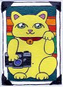 This Maneki Neko brings you good luck with photography, especially if you're a Lomographer  :)